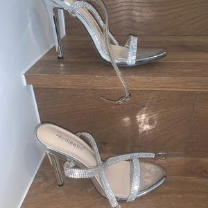 Never worn sparky strappy heels
